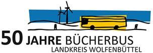 Logo 50 Jahre Bücherbus Landkreis Wolfenbüttel