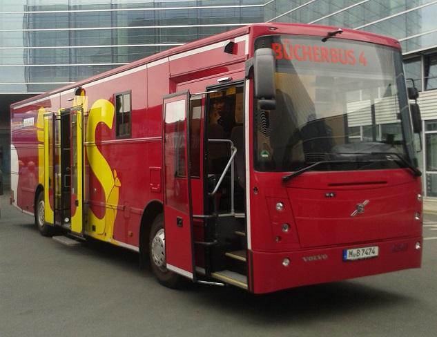 Bücherbus 4 der Münchener Stadtbibliothek