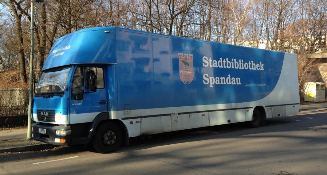 Spandau sucht nach Interessenten für das alte Fahrzeug der Fahrbibliothek!